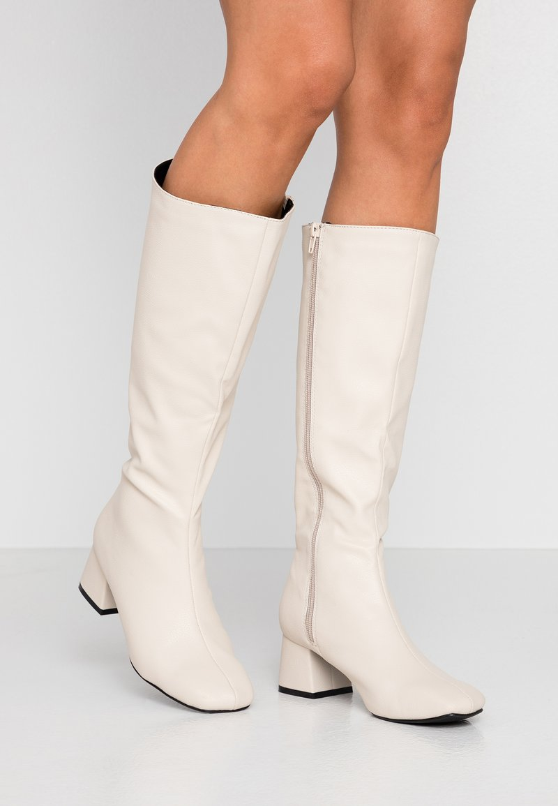 Rubi Shoes by Cotton On - CAMILLA SQUARE TOE KNEE HIGH BOOT - Saappaat - stone smooth
