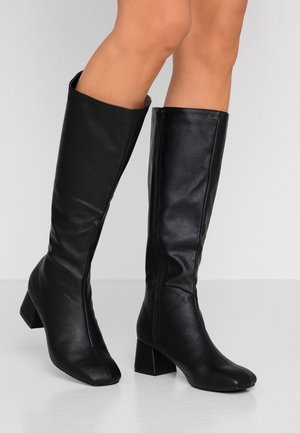 CAMILLA SQUARE TOE KNEE HIGH BOOT - Kozaki - black smooth