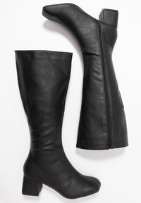 Rubi Shoes by Cotton On - CAMILLA SQUARE TOE KNEE HIGH BOOT - Stiefel - black smooth - 3