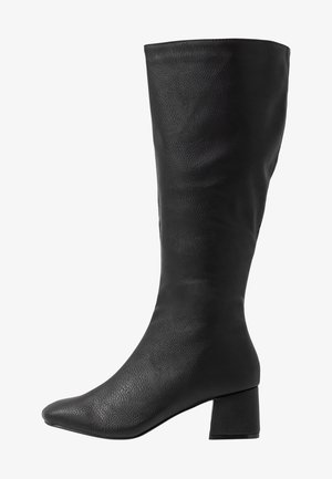 CAMILLA SQUARE TOE KNEE HIGH BOOT - Laarzen - black smooth