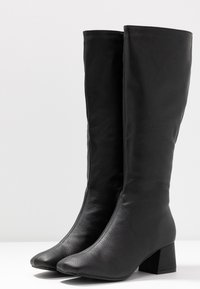 Rubi Shoes by Cotton On - CAMILLA SQUARE TOE KNEE HIGH BOOT - Stiefel - black smooth - 4