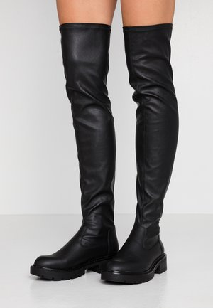 WORK BOOT - Over-the-knee boots - black
