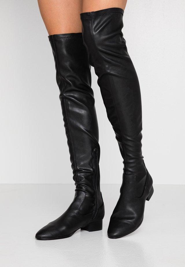 VERONICA FLAT BOOT - Overknees - black
