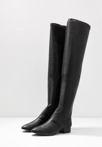 Rubi Shoes by Cotton On - VERONICA FLAT BOOT - Kozačky nad kolena - black