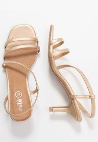 Rubi Shoes by Cotton On - LARA STRAPPY STILETTO - Riemensandalette - gold - 3