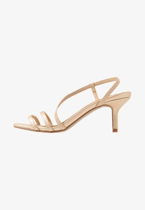LARA STRAPPY STILETTO - Sandals - gold