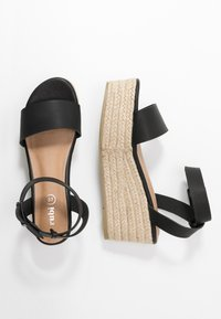 Rubi Shoes by Cotton On - CRYSTAL WEDGE - Espadrillas - black - 3
