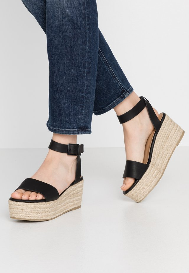 CRYSTAL WEDGE - Espadrilles - black