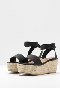 Rubi Shoes by Cotton On - CRYSTAL WEDGE - Espadrillas - black - 4