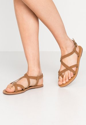 TYRA MULTI STRAP  - T-bar sandals - tan