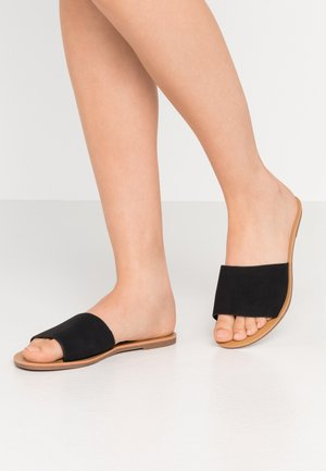 CARRIE MINIMAL SLIDE - Matalakantaiset pistokkaat - black