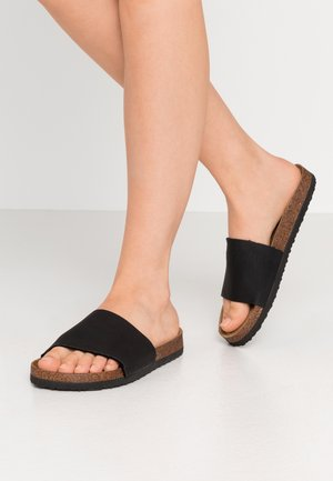 REX SINGLE VAMP SLIDE - Mules - black