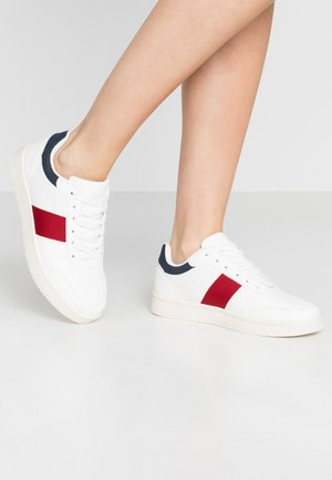ALBA RETRO RISE - Sneakers - white/navy/red