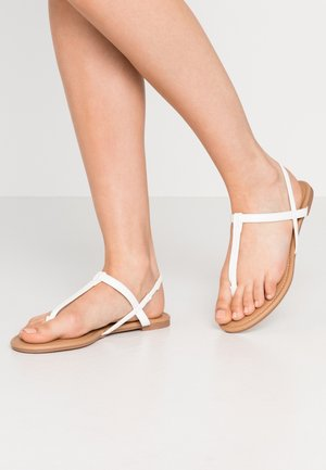 EVERYDAY TOE POST  - T-bar sandals - white