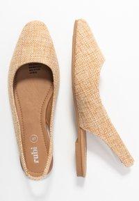 Rubi Shoes by Cotton On - ESSENTIAL LILI SQAURE TOE SLINGBACK - Ballerinasko - camel - 3