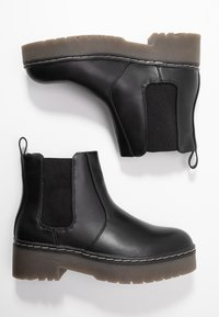 Rubi Shoes by Cotton On - FRANKIE GUSSET FLATFORM - Plateaustøvletter - black - 3