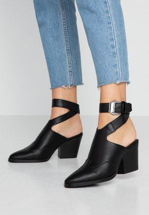 STRAPPY BOOT - Boots à talons - black