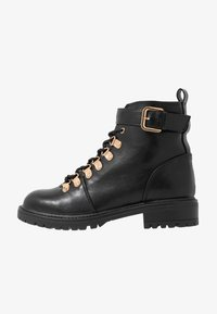 Rubi Shoes by Cotton On - HARIETTE LACE UP BOOT - Lace-up ankle boots - black/gold - 1