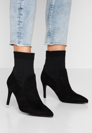 CINDY SOCK BOOT - Stivaletti con tacco - black