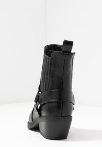 Rubi Shoes by Cotton On - TARA HARNESS SQUARE TOE BOOT - Cowboy/biker ankle boot - black - 5