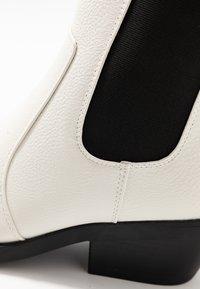 Rubi Shoes by Cotton On - TESSA SQUARE TO WESTERN BOOT - Kovbojské/motorkářské boty - offwhite - 2