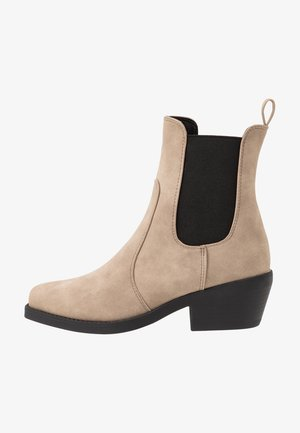 TESSA SQUARE TO WESTERN BOOT - Cowboy/biker ankle boot - taupe