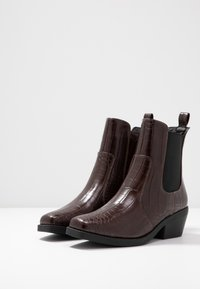 Rubi Shoes by Cotton On - TESSA SQUARE TO WESTERN BOOT - Santiags - chocolate - 4