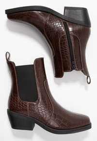 Rubi Shoes by Cotton On - TESSA SQUARE TO WESTERN BOOT - Santiags - chocolate - 3