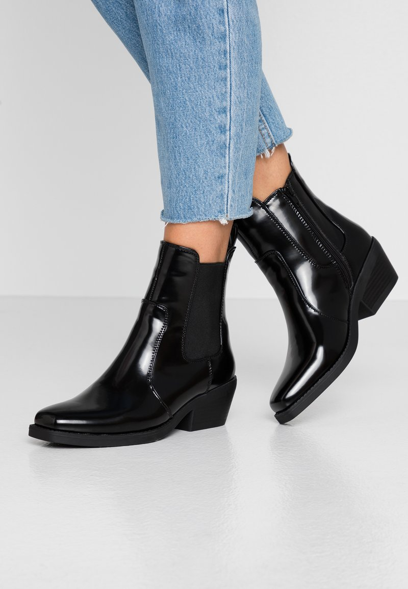 Rubi Shoes by Cotton On - TESSA SQUARE TO WESTERN BOOT - Cowboystøvletter - black