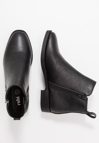 Rubi Shoes by Cotton On - JESINTA SQUARE TOE ZIP BOOT - Ankelboots - black smooth - 3