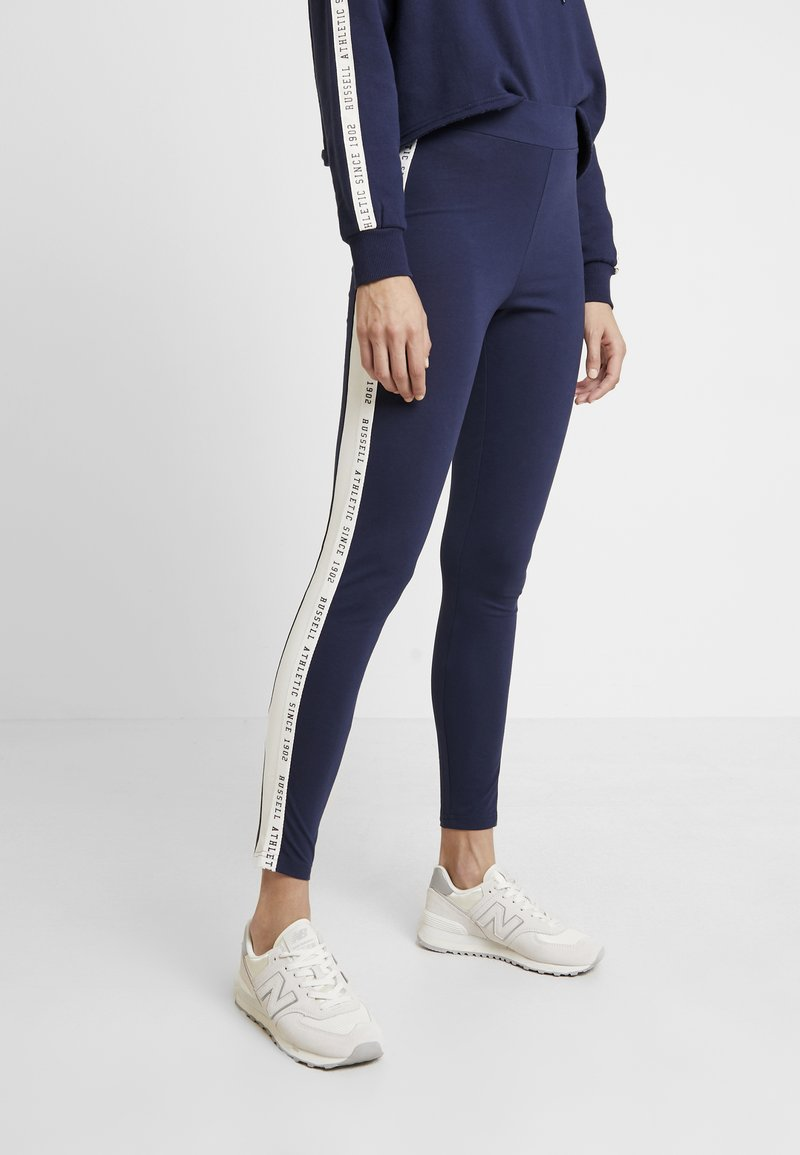 Russell Athletic Eagle R - MAYA TAPE - Legging - navy