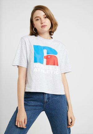 MELINDA - T-shirt med print - mottled grey