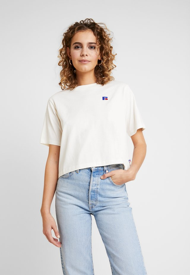 OLIVIA CROP LOGO - T-Shirt print - soya