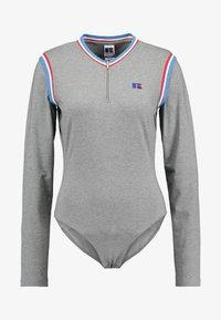 Russell Athletic Eagle R - PENELOPE ZIP FRONT BODYSUIT - Pitkähihainen paita - collegiate grey marl - 5