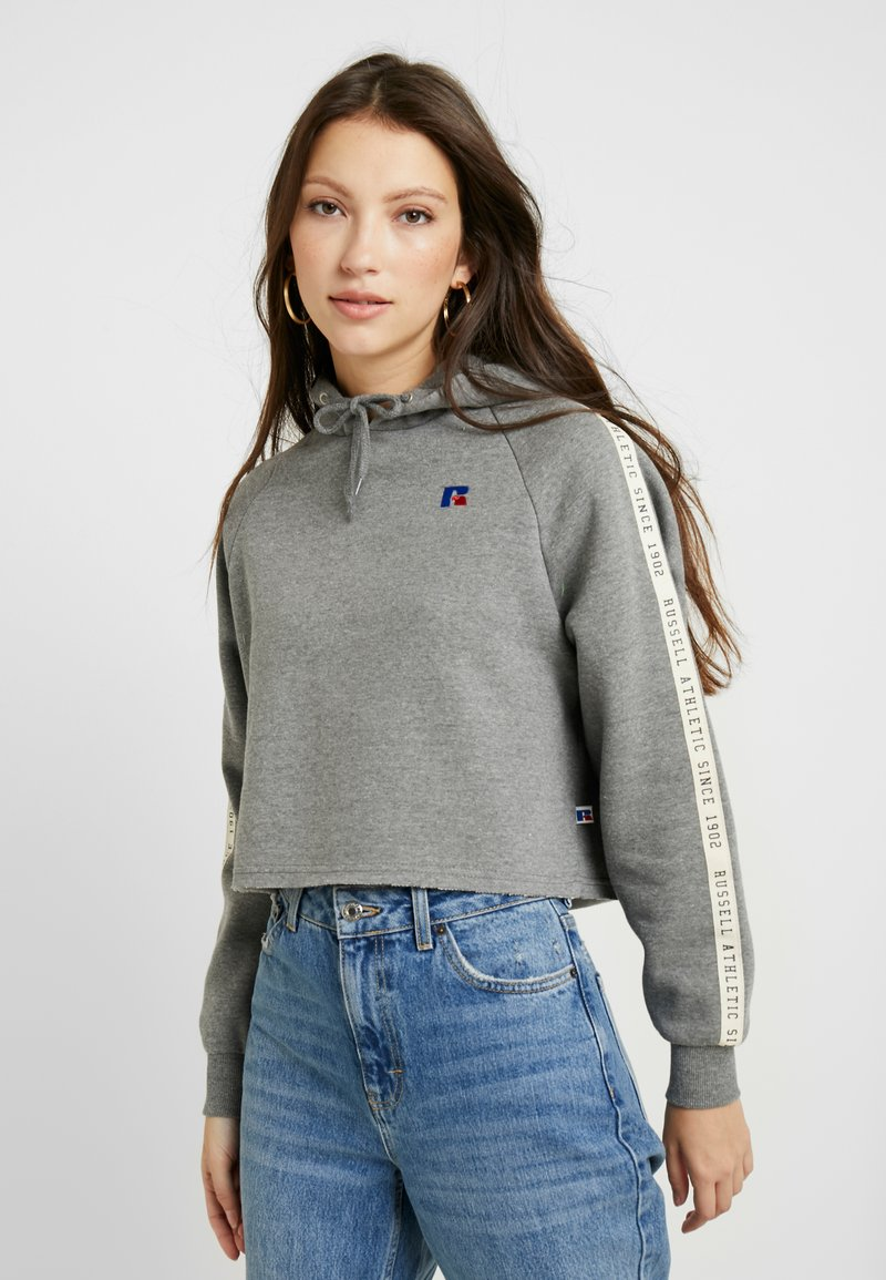Russell Athletic Eagle R - CLAIRE ROP HOODY - Mikina skapucí - collegiate grey