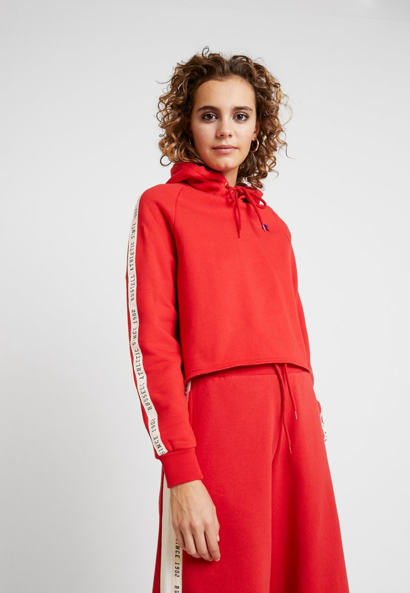 Russell Athletic Eagle R - CLAIRE ROP HOODY - Mikina skapucí - red
