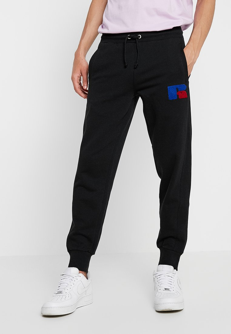 Russell Athletic Eagle R - AUSTIN-CUFFED - Tracksuit bottoms - black