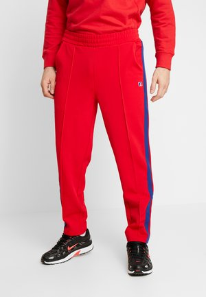 GLAMIS STRIPED ZIP OFF TRACK PANT - Träningsbyxor - true red