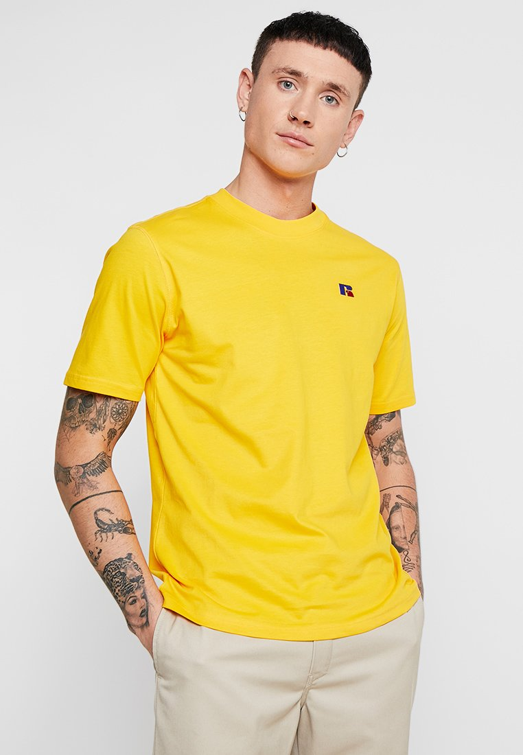 Russell Athletic Eagle R - BASELINERS TEE  - T-Shirt print - yellow
