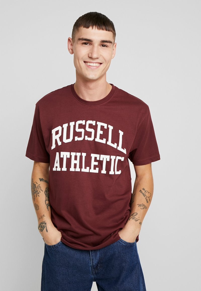 Russell Athletic Eagle R - ICONIC CREW NECK TEE - T-Shirt print - dark red