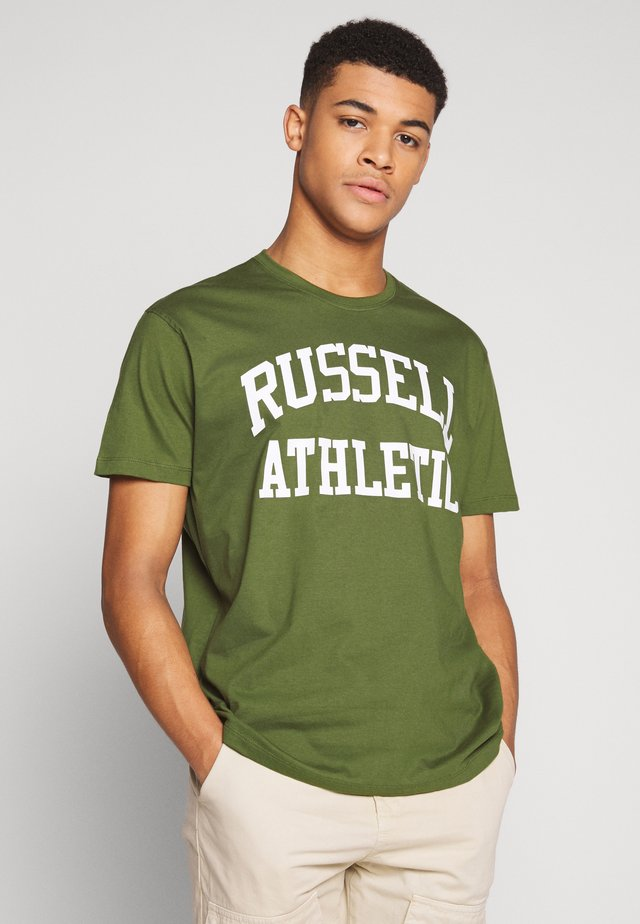 CREWNECK TEE - T-shirt z nadrukiem - cypress