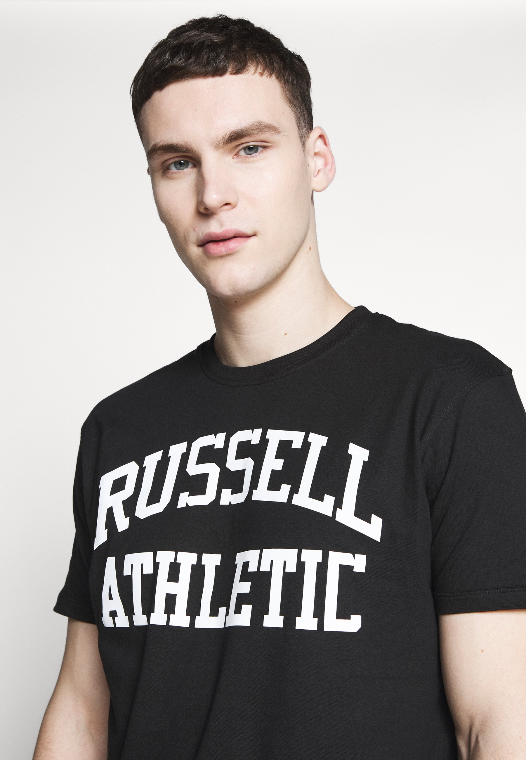 Russell Athletic Eagle R CREWNECK TEE - T-shirt imprimé - black