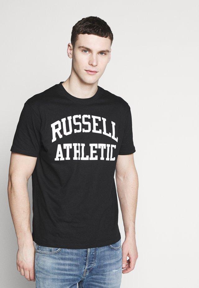 CREWNECK TEE - T-shirt z nadrukiem - black