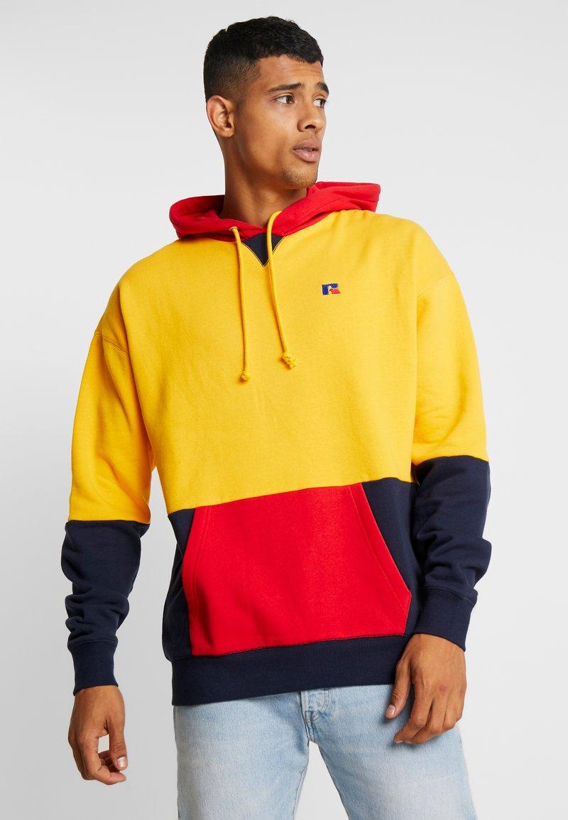 Russell Athletic Eagle R - MILLER - Bluza z kapturem - yellow