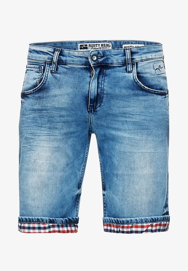 STANLEY - Denim shorts - blau