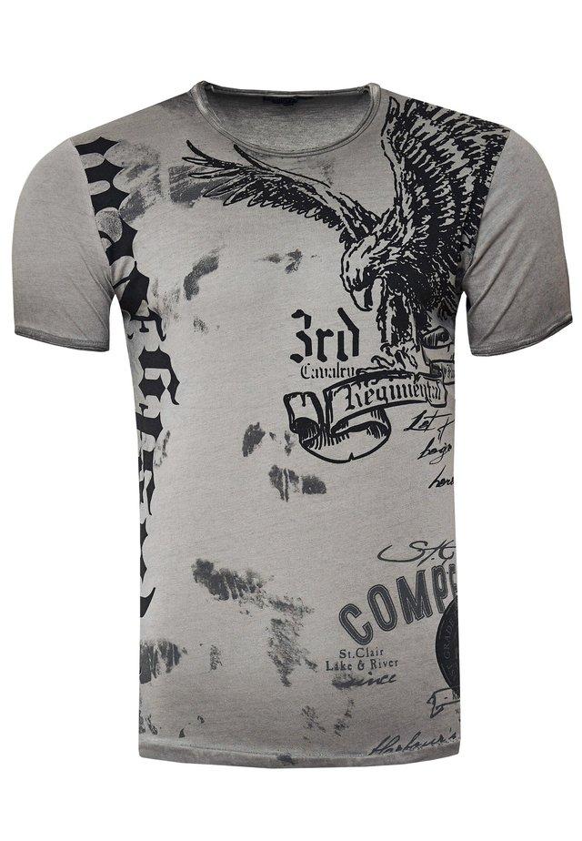 MIT ADLER-PRINT - T-shirt print - anthrazit