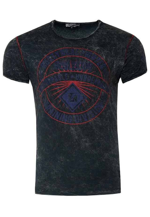 MIT MODERNEM PRINT - Print T-shirt - anthrazit