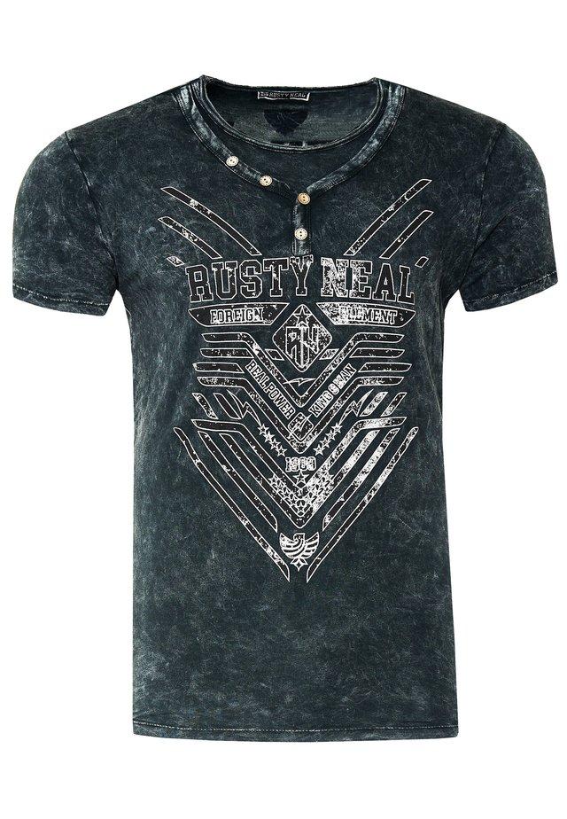 MIT STYLISCHEM PRINT - Print T-shirt - anthrazit