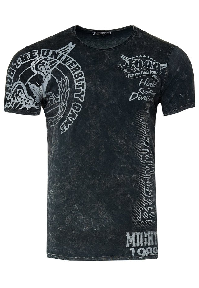 T-shirt print - anthrazit