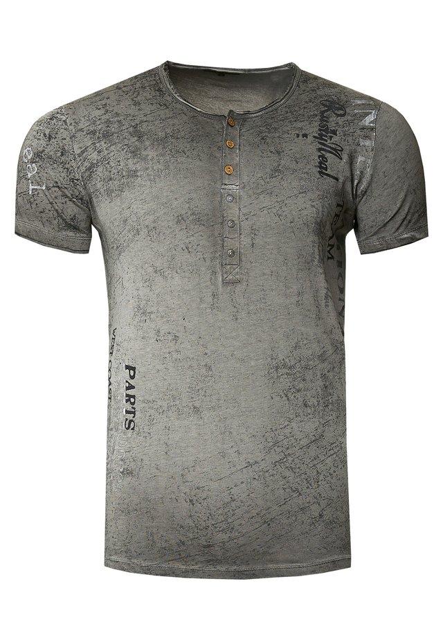 MIT SEITLICHEM DRUCK - T-shirt print - anthrazit
